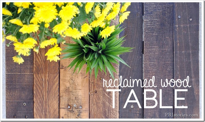 reclaimed wood table top by pbjstories