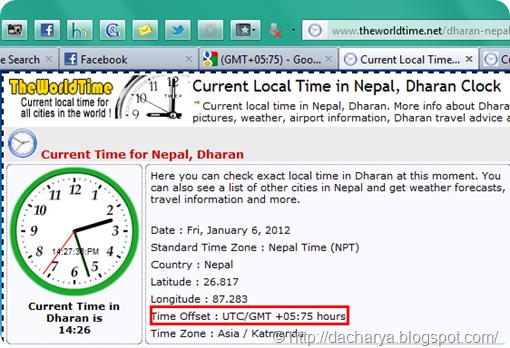 Wrong Nepal Time