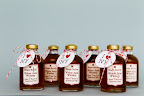 Mini bourbon bottle favors by Cacao Prieto made in their Brooklyn distillery.