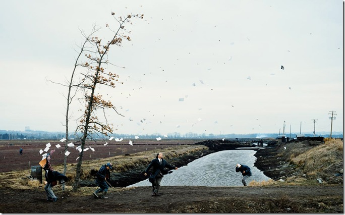 jeff wall_A Sudden Gust of Wind After Hokusai) (1993)