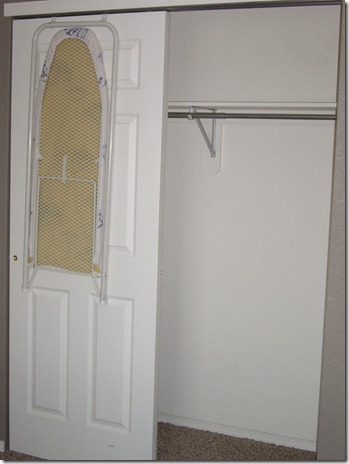 Guest closet - before and clean