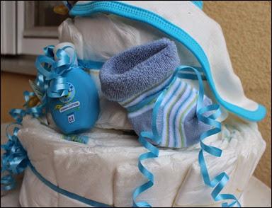 Windeltorte selbstgemacht Baby Boy 4