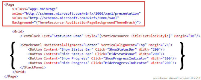 Page in Windows Phone 8.1