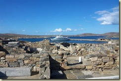 Delos Boat and Ruins (Small)