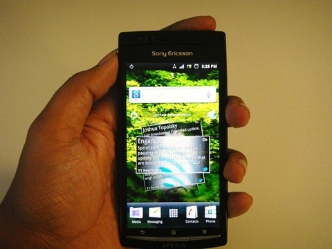 Sony Ericsson Xperia Arc - Mobile Bravia Reality Engine display
