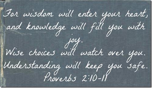 Proverbs 2 10-11