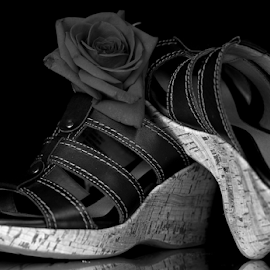 Sandals by Dipali S - Artistic Objects Clothing & Accessories ( shoes, rose, fashion, accessory, clothing, footwear, sandal, walk )