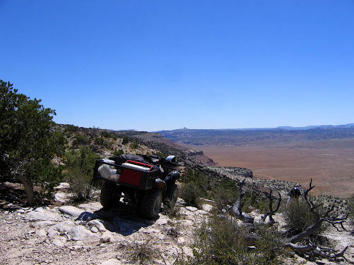 My ATV parked overlooking Buckhorn Flat
