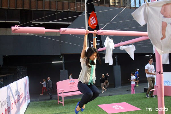 evian Live Young Backyard - Martin Place, Sydney - Giant Pink Hills Hoist (5)