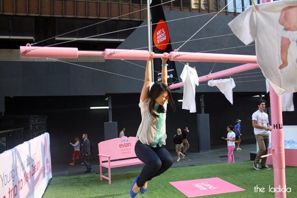 evian Live Young Backyard - Martin Place, Sydney - Giant Pink Hills Hoist (5)