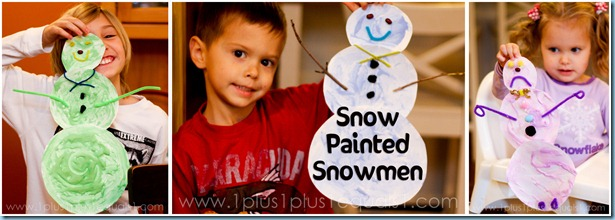 Snow Painted Snowmen Carft