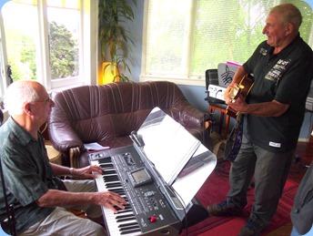 Kevin Johnston jamming with John Perkin