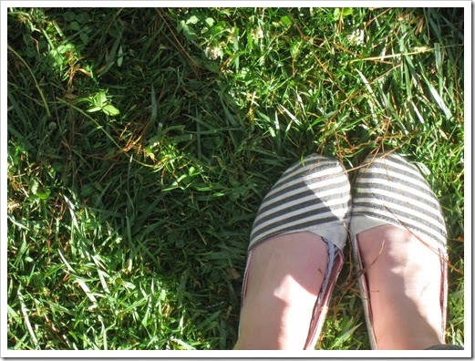 Sunny college campus shoes