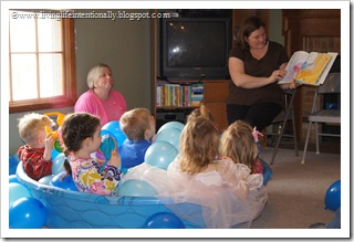 reading our favorite book, the pout pout fish