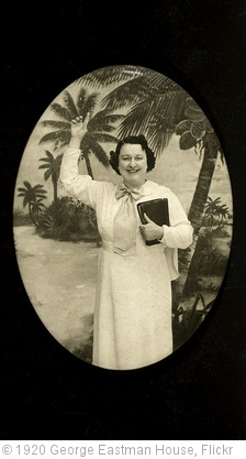 'Woman with book and palm trees' photo (c) 1920, George Eastman House - license: http://www.flickr.com/commons/usage/