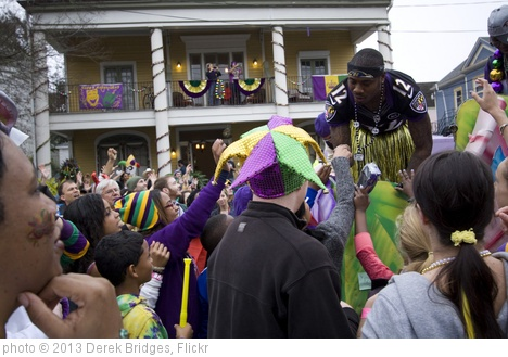 'Carnival_Zulu_Jacoby Jones' photo (c) 2013, Derek Bridges - license: http://creativecommons.org/licenses/by/2.0/