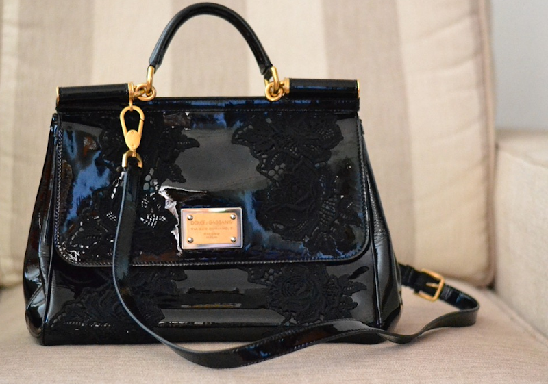 Dolce &amp; Gabbana Miss Sicily Patent Bag, Miss Sicily, Dolce &amp; Gabbabna Bag, Dolce &amp; Gabbana