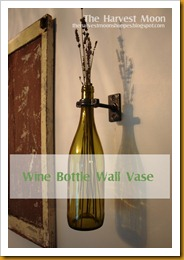Wine Bottle Wall Vase