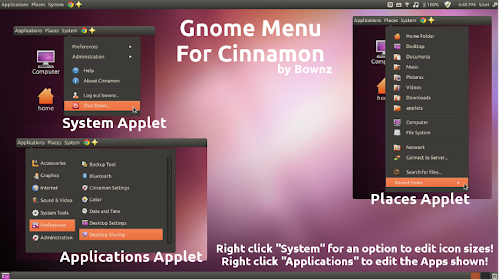Gnome Menu su Cinnamon