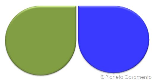 Paleta de Cores - Azul e Verde - Planeta Casamento