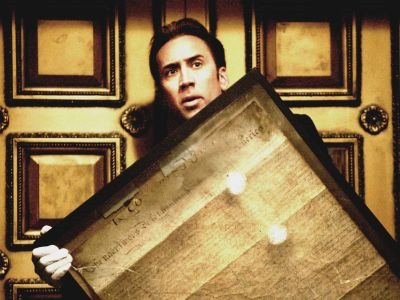 Ben Gates (Nicolas Cage, pictured) steals the Declaration of Independence in order to uncover the final clues leading to the treasure his family has chased for generations.