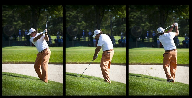 Phil Mickelson at 2011 US Open Triptych