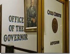 Gov's office door - Chris Christie - Newsworks photo