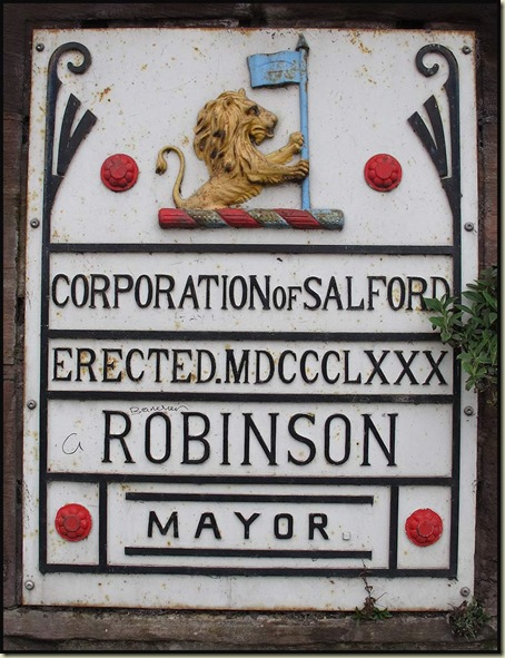 Mayoral plaque on Frederick Road Bridge