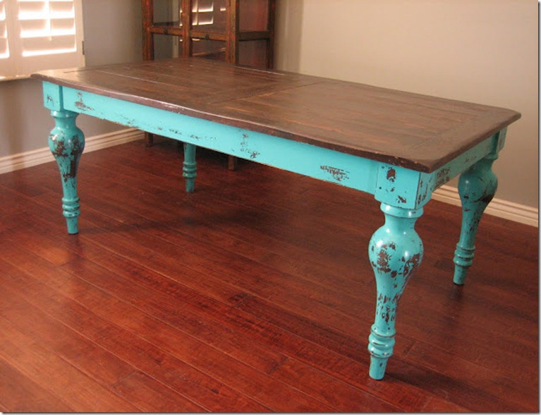 turquoiseTABLE and BEFORE dresser 012