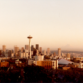 Seattle Washington  by Alec Halstead - City,  Street & Park  Skylines