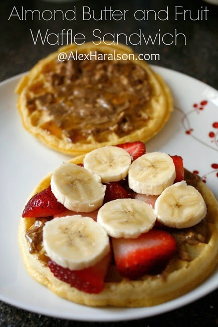 Almond Butter Honey Strawberry Banana Waffle Sandwich3