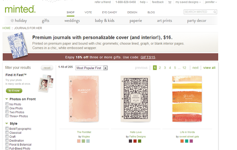 MINTED JOURNALS FOR HER