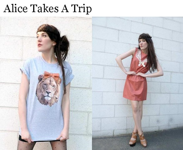We love the Roarsome (see what we did there!) lion tee from Alice-takes-a-trip! Alice is also rocking our world with sweet sailor-style and ship-hot nautical skirts.