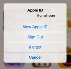 how to sign out from ipad appstore