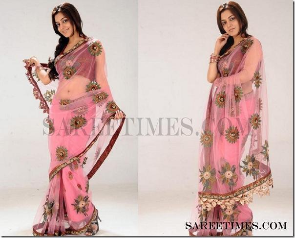 Nisha_Agrwal_Pink_Designer_Saree