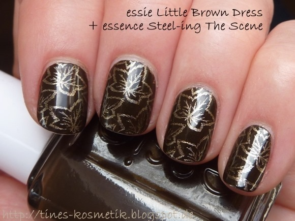 essie Little Brown Dress Stamping 1
