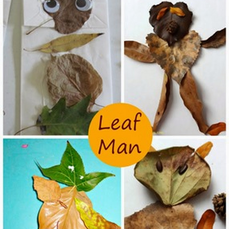 Preschool Fall Art: Leaf Man