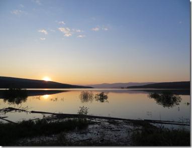 Sunrise in Teslin