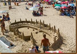 Cadiz, sandcastle