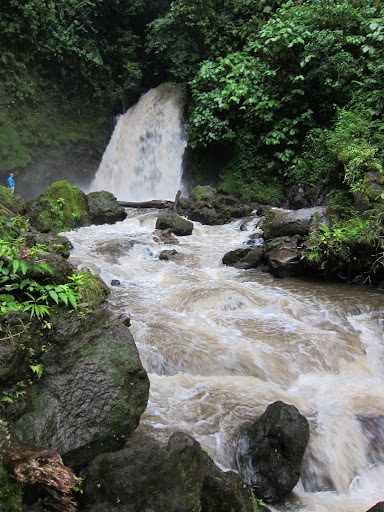 Waterfall near Volcan Arenal - it was too rainy to swim
