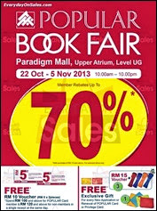Popular Bookstores Book Sale Fair Event 2013 Malaysia Deals Offer Shopping EverydayOnSales