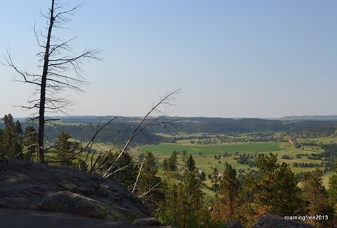 The valley beyond Devils Tower
