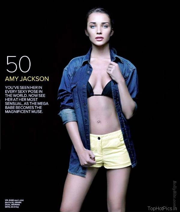 Amy Jackson Latest Hot Pics in Short Jeans 2
