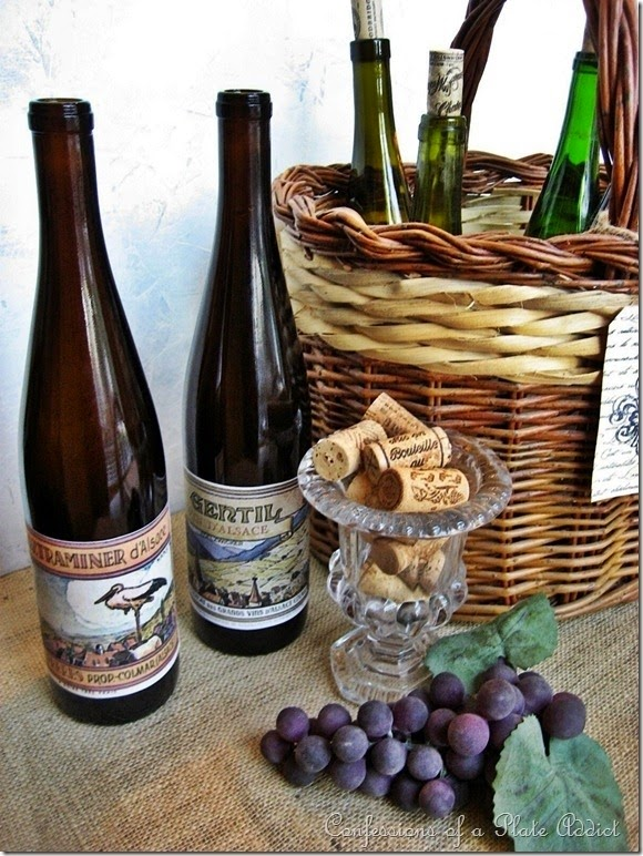 CONFESSIONS OF A PLATE ADDICT DIY Vintage French Wine Bottles