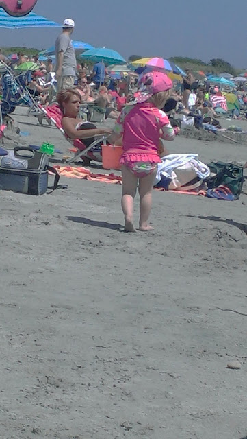 cute kid at beach