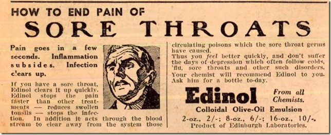 1942 sore throat ad