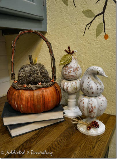 miniature pumpkin topiary 9