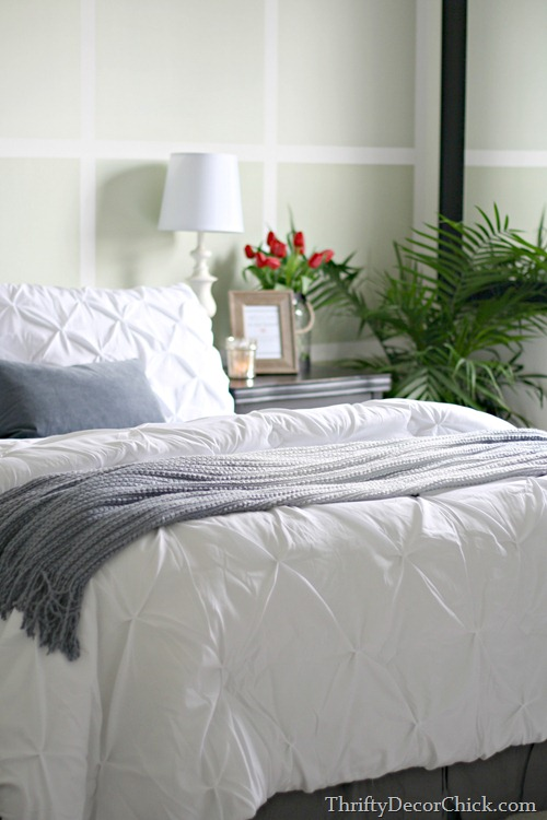 white pintuck bedding