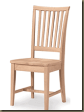 WW265 265  Mission Hardwood Dining Side Chair   2 Pack   UNFINISHED DINING CHAIRS