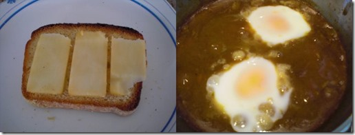Curry porched egg